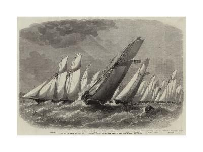 The Ocean Race of the Royal Victoria Yacht Club, the Vessels Off the Noman-Edwin Weedon-Giclee Print