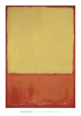 The Ochre, 1954-Mark Rothko-Art Print
