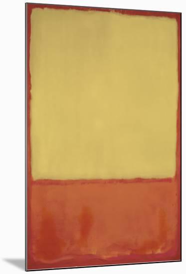 The Ochre, 1954-Mark Rothko-Mounted Art Print