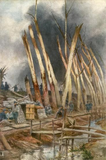 The Offensive of Yser, 1917-Francois Flameng-Giclee Print