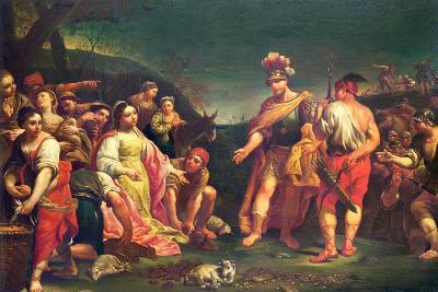 The Offering of Abigail before David-Giuseppe Mengoni-Giclee Print