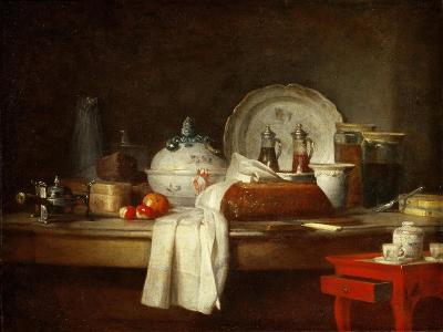 The Officers' Mess or the Remains of a Lunch-Jean-Baptiste Simeon Chardin-Giclee Print