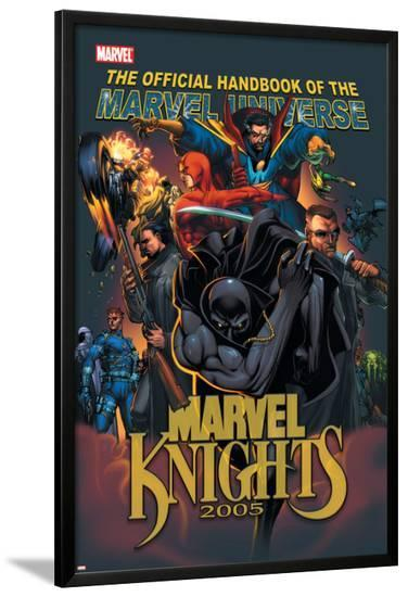 The Official Handbook Of The Marvel Universe: Marvel Knights 2005 Cover: Black Panther-Pat Lee-Lamina Framed Poster