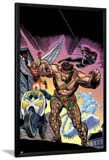 The Official Handbook Of The Marvel Universe Teams 2005 Group: Hercules-Gil Kane-Lamina Framed Poster
