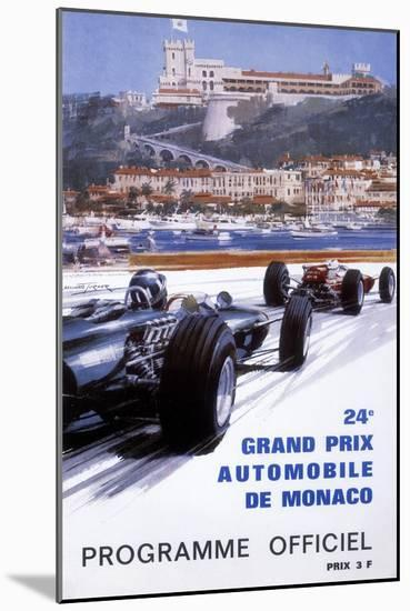 The Official Programme for the 24th Monaco Grand Prix, 1966-Michael Turner-Mounted Giclee Print
