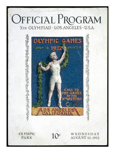 The Official Programme for the Games of the Xth Olympiad, Held in Los Angeles, USA--Giclee Print