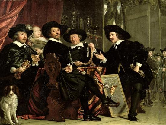 The Officials of the Company of Bowyers of St. Sebastian at Amsterdam, 1653-Bartolomeus Van Der Helst-Giclee Print