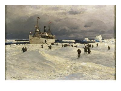 The Oihonna in Ice, Near Spitzbergen, 1905-Themistocles von Eckenbrecher-Giclee Print
