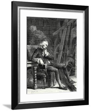 The Old Age and Misery of Denis Papin ''I Am Now Obliged Wrote Papin to Put My Machines in the Corn--Framed Giclee Print