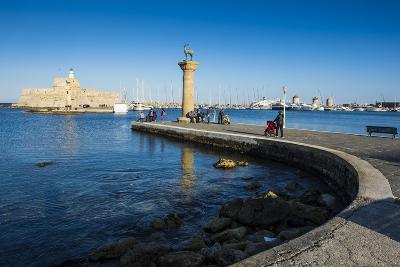 The Old Agios Nikolaos Fortress, Mandraki Harbour, Rhodes Town, Dodecanese Islands, Greek Islands-Michael Runkel-Photographic Print