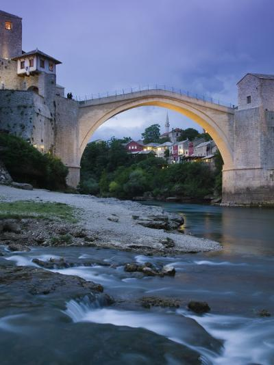 The Old Bridge, Mostar, Bosnia and Herzegovina-Walter Bibikow-Photographic Print