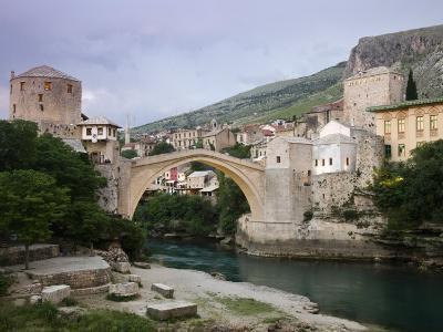 The Old Bridge Stari Most, Mostar, Bosnia-Hercegovia-Walter Bibikow-Photographic Print