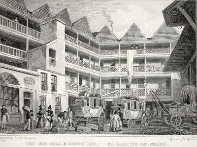 The Old Bull and Mouth Inn-Thomas Hosmer Shepherd-Giclee Print