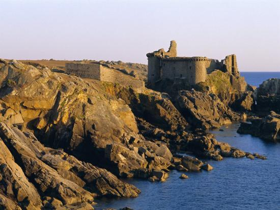 The Old Castle, 19th Century, on the South Coast of Ile d'Yeu, Yeu Island, Vendee, France-J P De Manne-Photographic Print