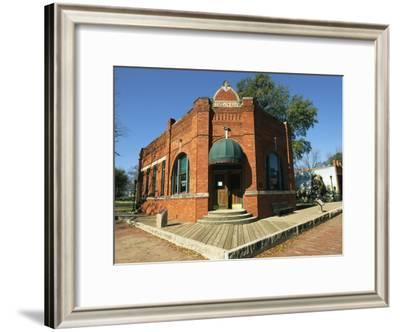 The Old Citizens Bank in Old City Park, a Living History Museum-Richard Nowitz-Framed Photographic Print
