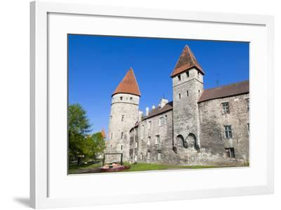 The Old City Walls of the Old Town of Tallinn, Estonia, Baltic States, Europe-Nico Tondini-Framed Photographic Print