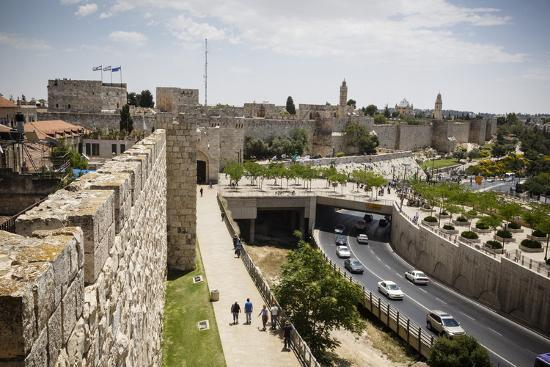 The Old City Walls, UNESCO World Heritage Site, Jerusalem, Israel, Middle East-Yadid Levy-Photographic Print