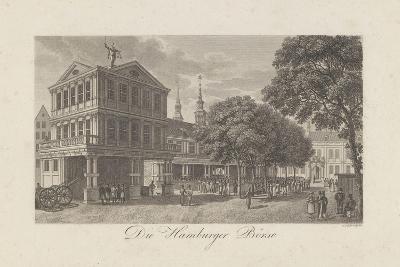 The Old Exchange in Hamburg, 1822-Johann Martin Friedrich Geissler-Giclee Print