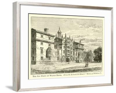 The Old Front of Wilton House--Framed Giclee Print