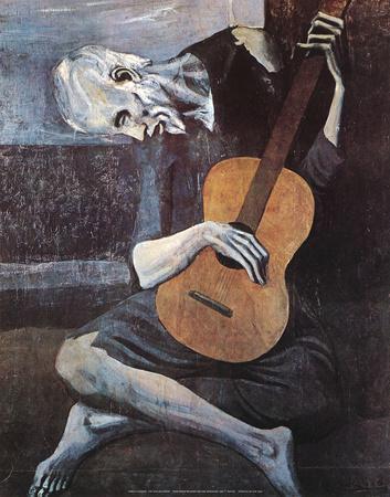 The Old Guitarist, c.1903-Pablo Picasso-Art Print