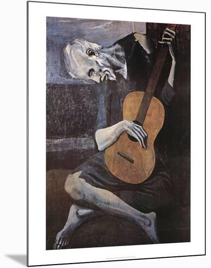 The Old Guitarist, c.1903-Pablo Picasso-Mounted Print