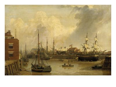 The Old Harbour and Garrison Side, Kingston-upon-Hull-John Of Hull Ward-Giclee Print