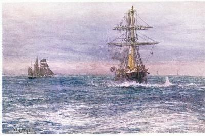 The Old 'Invincible' 1872, 1915-William Lionel Wyllie-Giclee Print
