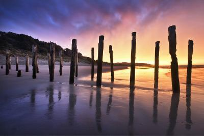 The Old Jetty Remains, St Clair Beach, Dunedin-Artie Photography (Artie Ng)-Photographic Print