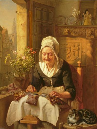 The Old Lacemaker, 1844-J^l^ Dyckmans-Giclee Print