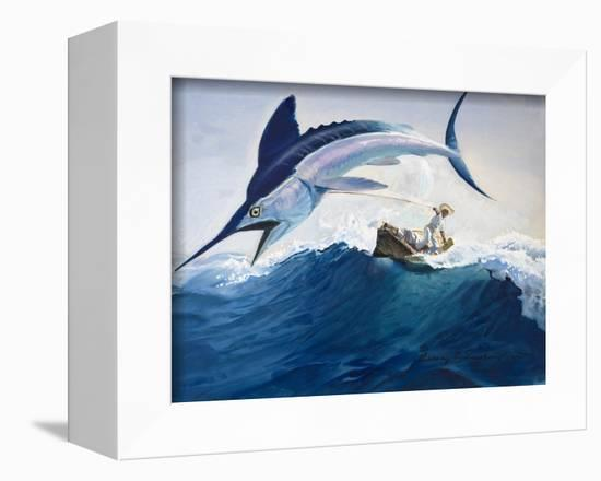 The Old Man and the Sea-Harry G^ Seabright-Framed Premier Image Canvas