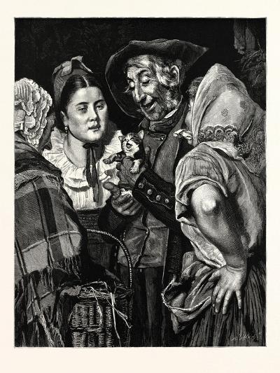 The Old Man's Treasure, a Kitten--Giclee Print