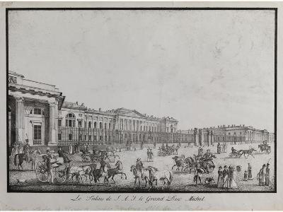 The Old Michael Palace in Saint Petersburg-Alexander Pluchart-Giclee Print