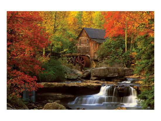 The Old Mill--Premium Giclee Print