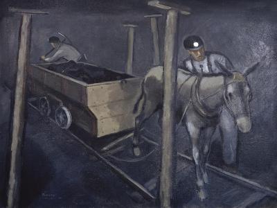 The Old Mine Mule-Richard Crist-Giclee Print