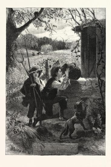 The Old Oaken Bucket, 1876, UK--Giclee Print
