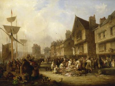 The Old Quayside, Newcastle, 1838-Henry Perlee Parker-Giclee Print