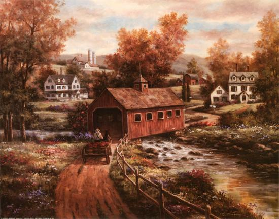 The Old Red Mill-T^ C^ Chiu-Art Print
