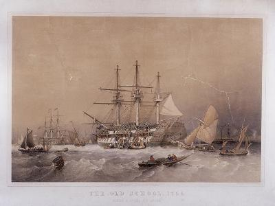 The Old School, 1755: Eight Months to India, 1855-Robert Carrick-Giclee Print