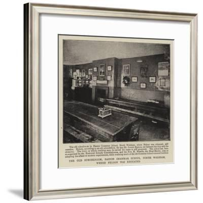 The Old Schoolroom, Paston Grammar School, North Walsham, Where Nelson Was Educated--Framed Giclee Print