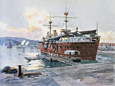 The Old Ship Castelfidardo in La Spezia--Giclee Print
