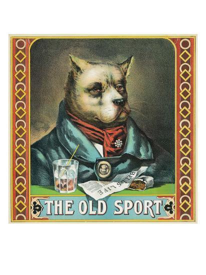 The Old Sport Brand Tobacco Label-Lantern Press-Art Print