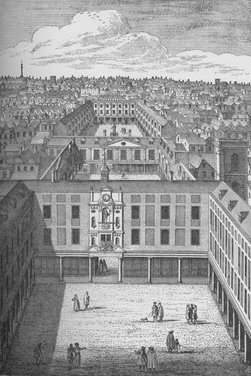 The Old St. Thomass Hospital in Bermondsey, which replaced the earlier monastic buildings in 1701--Giclee Print