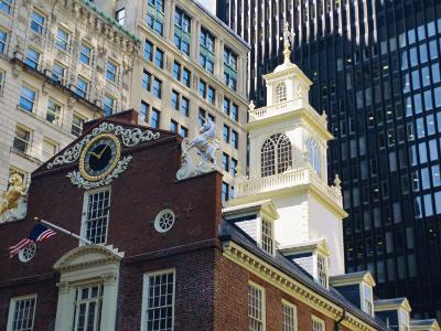 The Old State House (1713), Now the Boston History Museum, Boston, Massachusetts, USA-Fraser Hall-Photographic Print