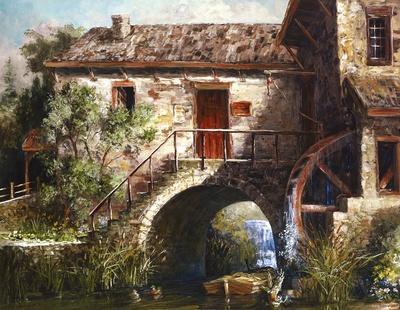 The Old Stone Mill-Michael R^ Miller-Mounted Art Print