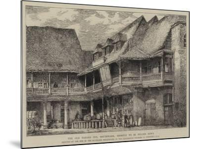 The Old Tabard Inn, Southwark, Shortly to Be Pulled Down-Henry William Brewer-Mounted Giclee Print