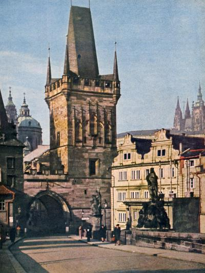 The Old Town End of the King Charles Bridge, Prague, Czech Republic, 1943--Giclee Print
