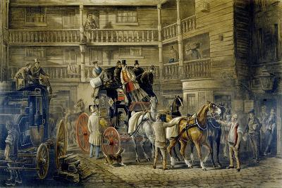 The Olden Time, from 'Fores Coaching Recollections', Engraved by J. Harris-Charles Cooper Henderson-Giclee Print