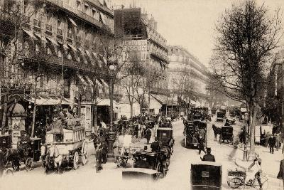 The Olympia Theatre and the Boulevard Des Capucines, Paris, 1895--Giclee Print