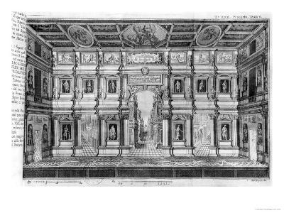 The Olympic Theatre at Vicenza, Designed by Andrea Palladio--Giclee Print