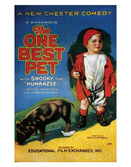 The One Best Pet - 1920--Giclee Print